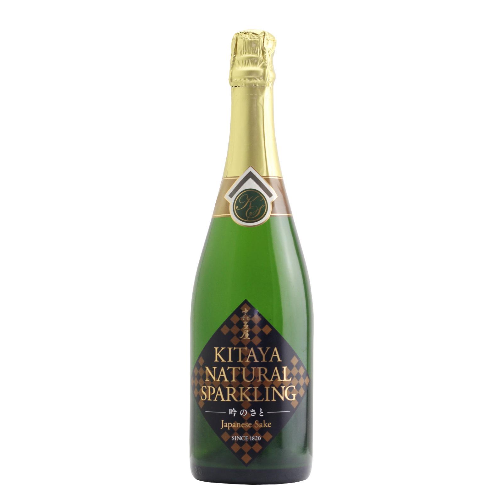 Kitaya Natural Sparkling Sake Gin-no-sato 12% 720ml